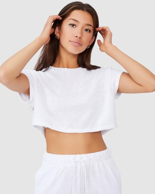 Factorie Textured Jersey Baby Tee - T-Shirts & Singlets (White)
