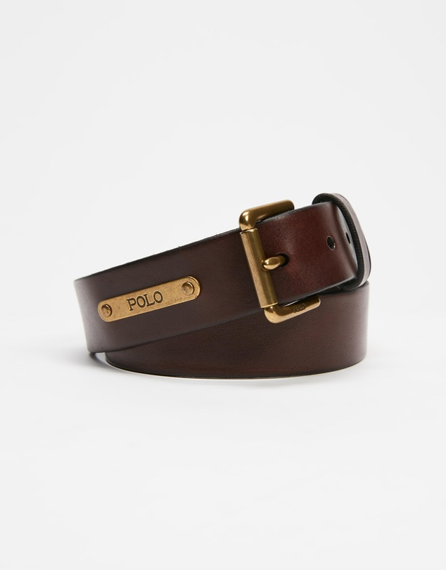 Polo Ralph Lauren - Plaque Casual Smooth Leather Belt