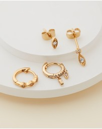 Luv Aj - ICONIC EXCLUSIVE - The Nazar Huggies + Studs Earring Set