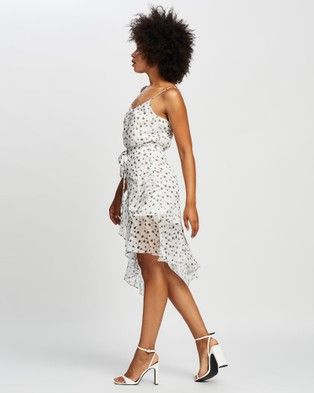 Honey and Beau Party Dress - Printed Dresses (White Print)