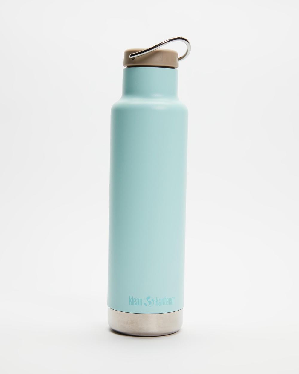Klean Kanteen 20oz Insulated Classic Loop Cap Bottle Water Bottles Blue Tint