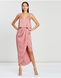Shona Joy - Luxe Draped Cocktail Frill Dress