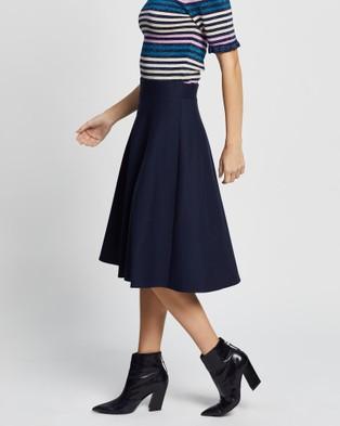 Review Taylor Skater Ponte Skirt - Skirts (Navy)