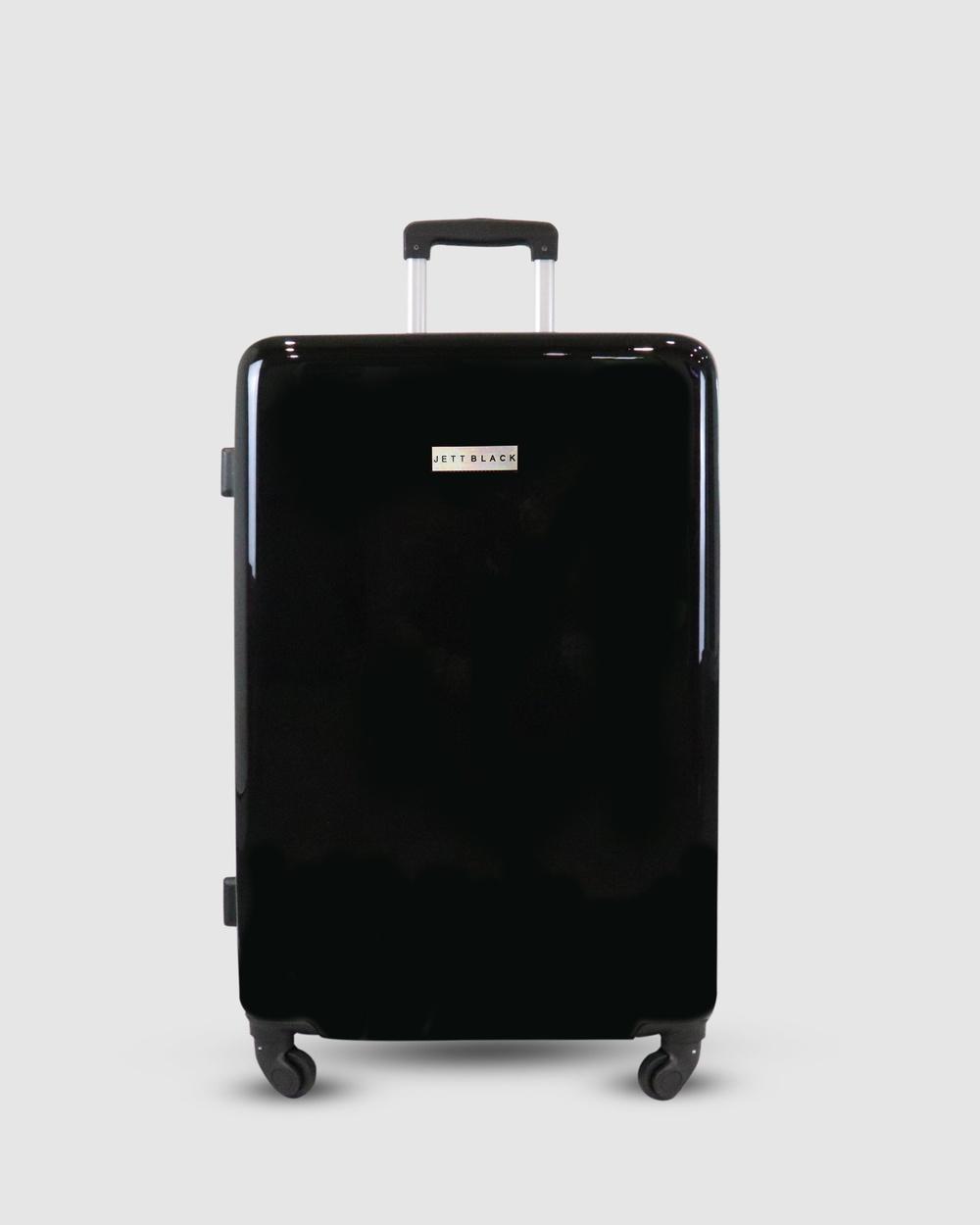 JETT BLACK My JB Series Medium Suitcase Travel and Luggage Black