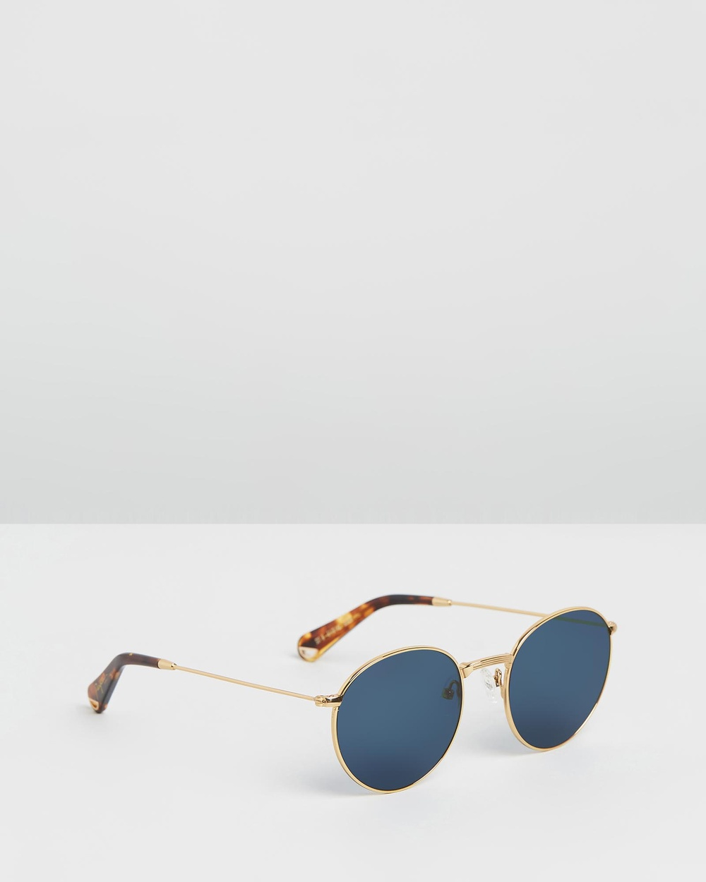 Pacifico Optical Dover Sunglasses Vintage Gold with Polarised Blue lens