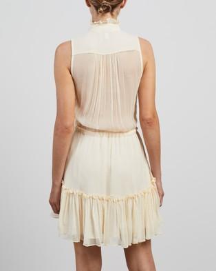 Shona Joy - Victoria Sleeveless Drawstring Mini Dress - Dresses (Cream) Victoria Sleeveless Drawstring Mini Dress