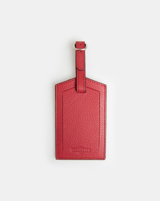 Globite Leather Luggage Identifier - Travel and Luggage (Red)