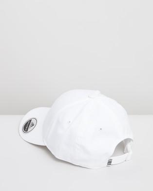 adidas Performance Baseball Training Cap   Unisex - Headwear (White, White & Black)