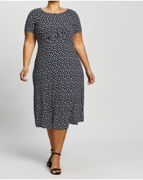 DP Curve - Empire Seam Spot Midi Dress