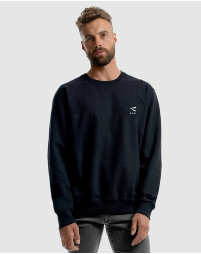 Dvnt Cut Throat Embroidery Crewneck Black