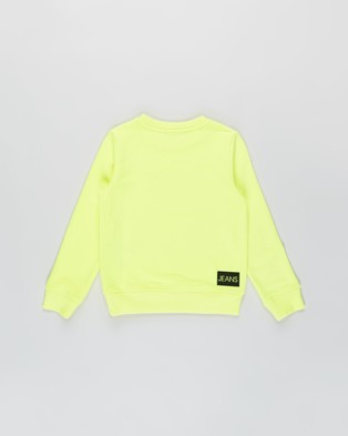 Calvin Klein Jeans Institutional Logo Sweatshirt   Kids - Sweats (Safety Yellow)