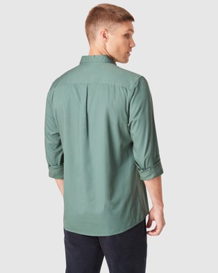 French Connection Soft Cotton Regular Fit Shirt - Casual shirts (SEA FOAM)