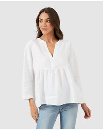 French Connection - Babydoll Linen Shirt