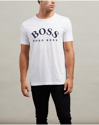 BOSS - Cotton Curved Logo Tee