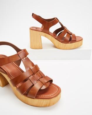 Mollini Ceepers Heeled Sandals - Sandals (Tan)