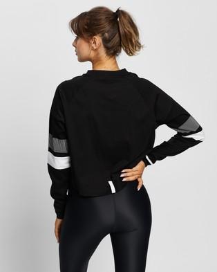 Lilybod Lissara Tee - Long Sleeve T-Shirts (Black & White)