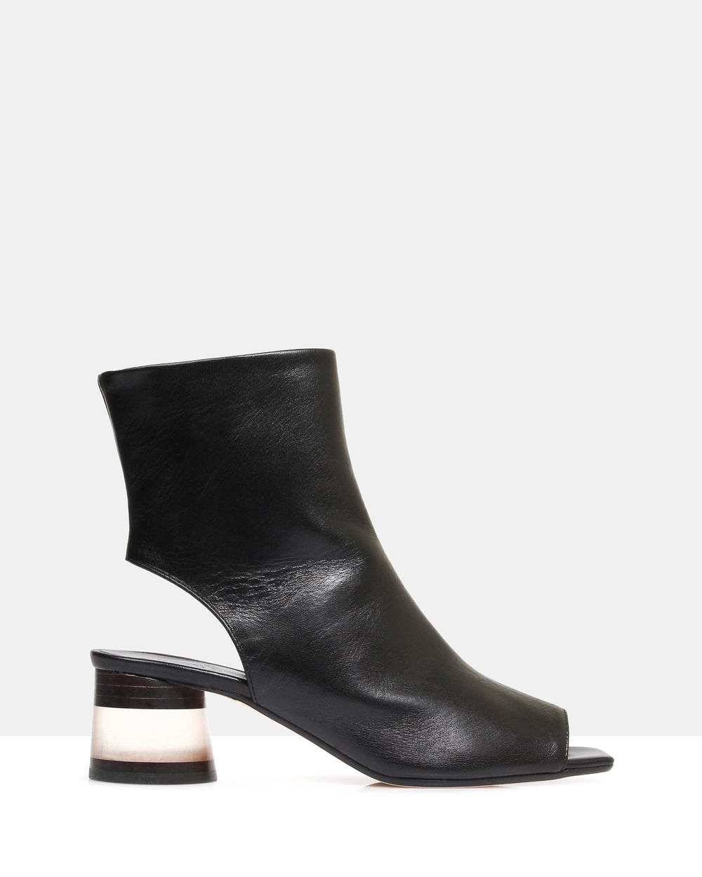 Beau Coops Pio Leather Ankle Boots Mid-low heels Black Pio Leather Ankle Boots