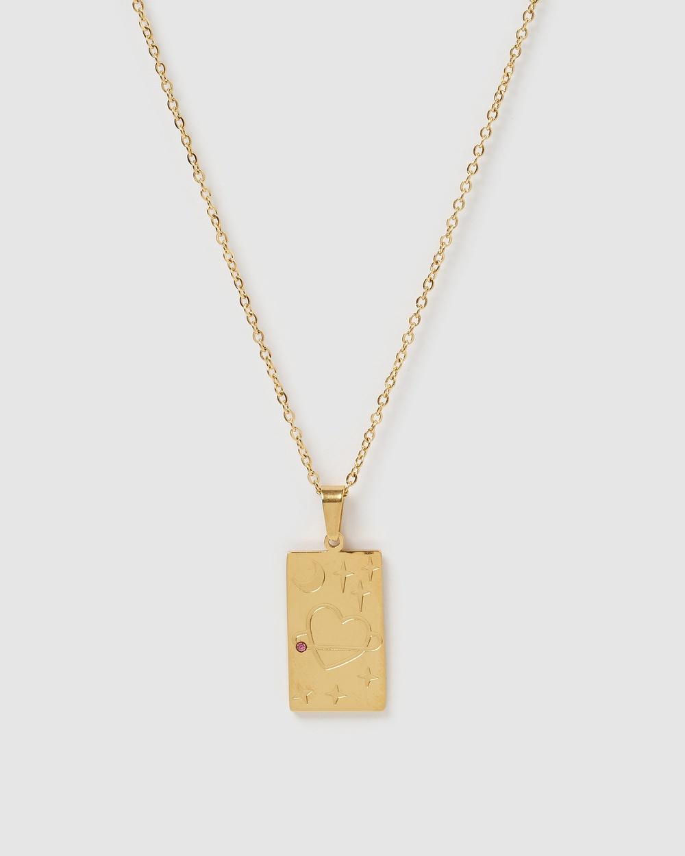 Miz Casa and Co Agnes Pendant Necklace Jewellery Gold