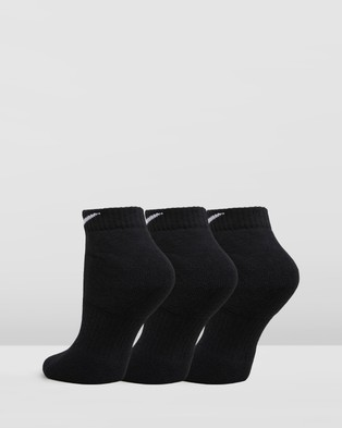 Nike Everyday Cushion Low Socks 3 Pack   Unisex - Underwear & Socks (Black & White)