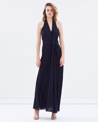 Bianca Spender – Jersey Entwined Long Dress Navy