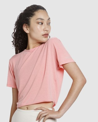 The Brave Entangle S S Crop Top - Cropped tops (Pink)