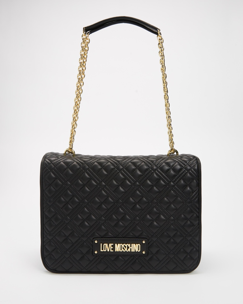 LOVE MOSCHINO Quilted Soft Shopper Tote Handbags Nero