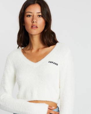 Abrand A Grace Knit - Jumpers & Cardigans (White)