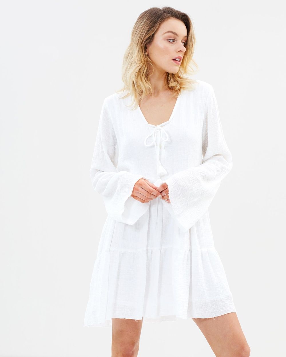 Rue Stiic Tucson Dress Dresses White Tucson Dress