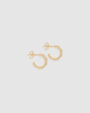 By Charlotte - ICONIC EXCLUSIVE   By The Moonlight Small Hoops - Jewellery (Gold) ICONIC EXCLUSIVE - By The Moonlight Small Hoops