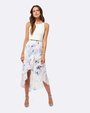 Forever New – Danielle Hi Lo Dress – Bridesmaid Dresses Watercolour Print