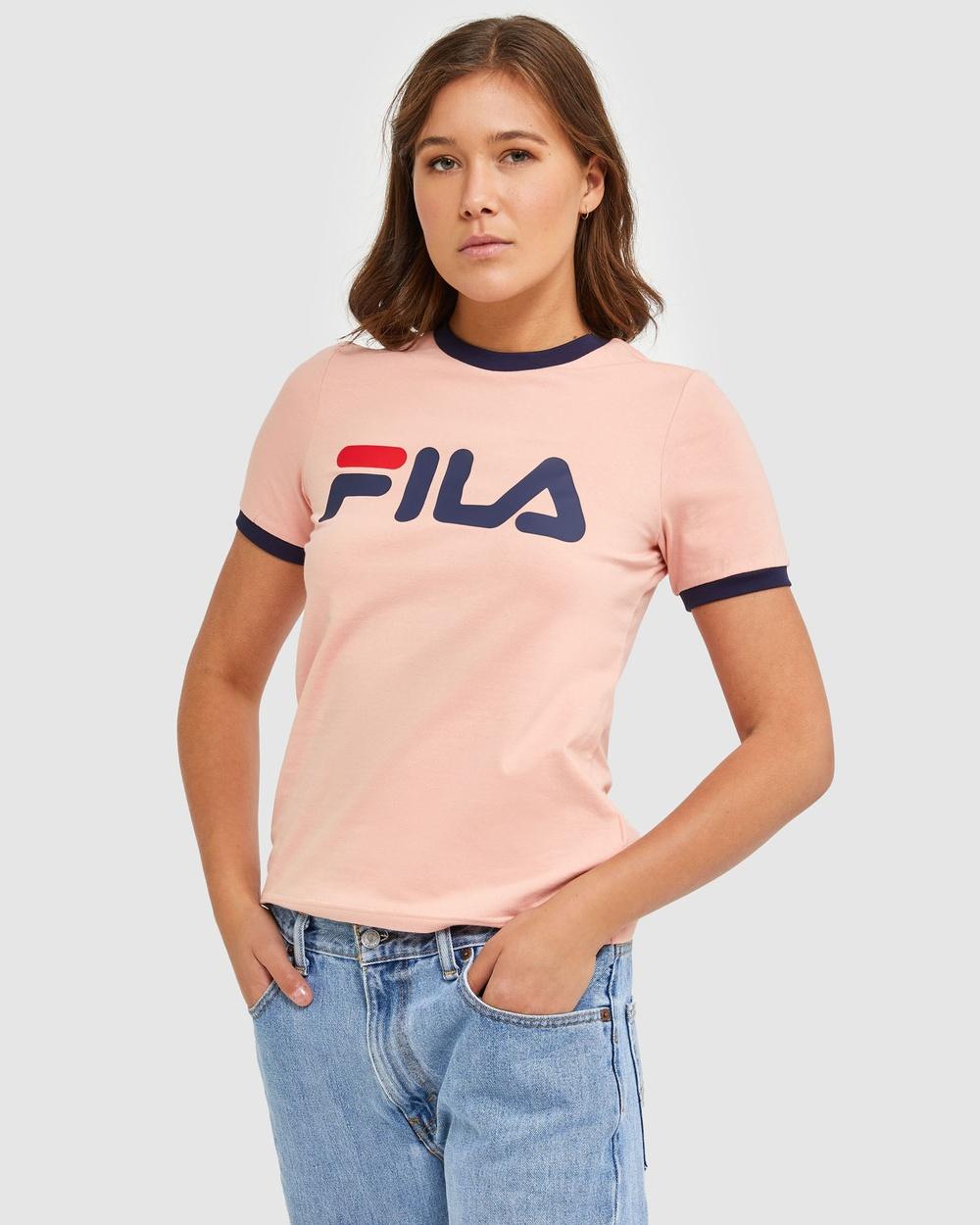 Fila Classic Ringer Tee T-Shirts & Singlets Mellow Rose Australia