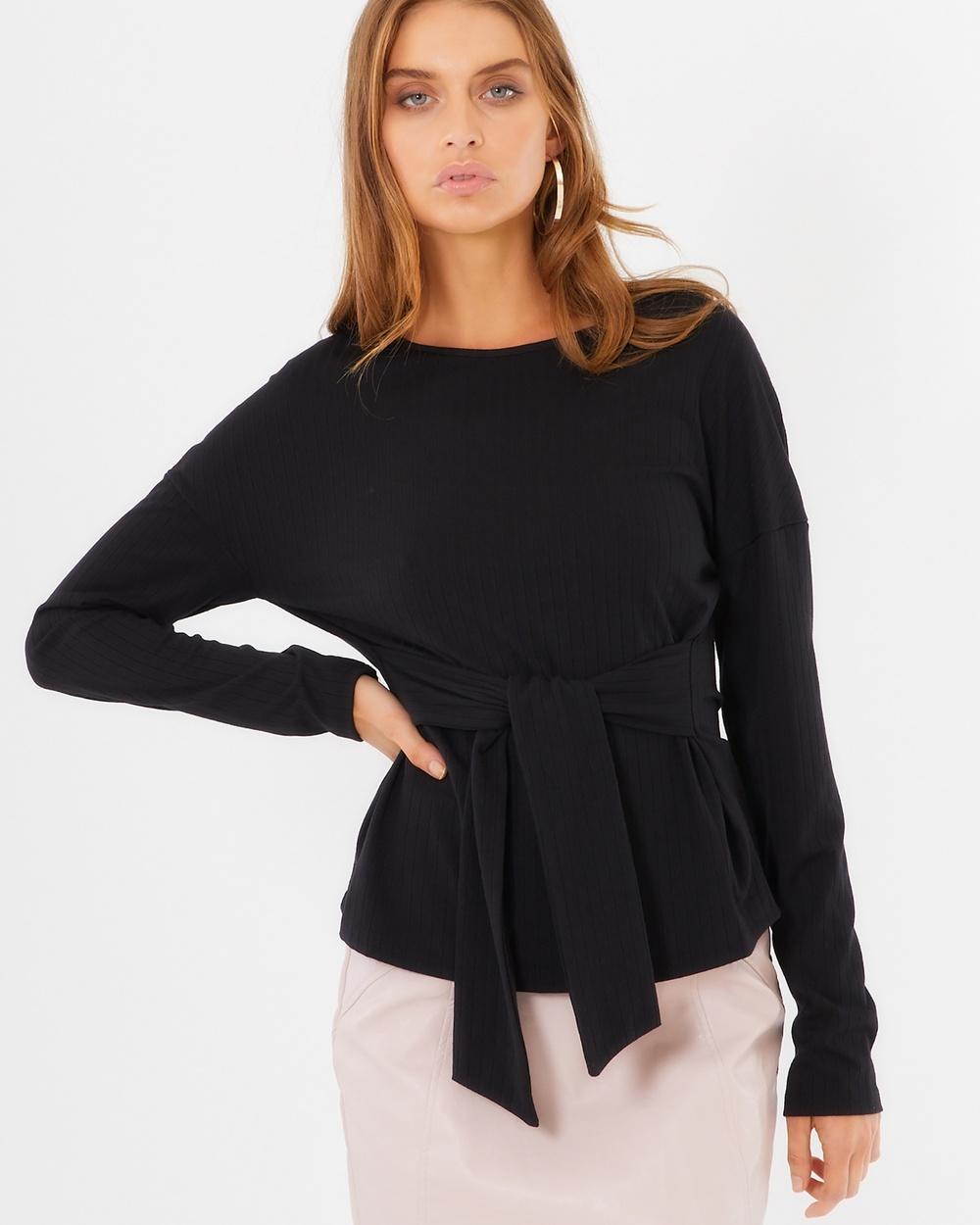 Tussah Rachel Knit Top Tops Black Rachel Knit Top