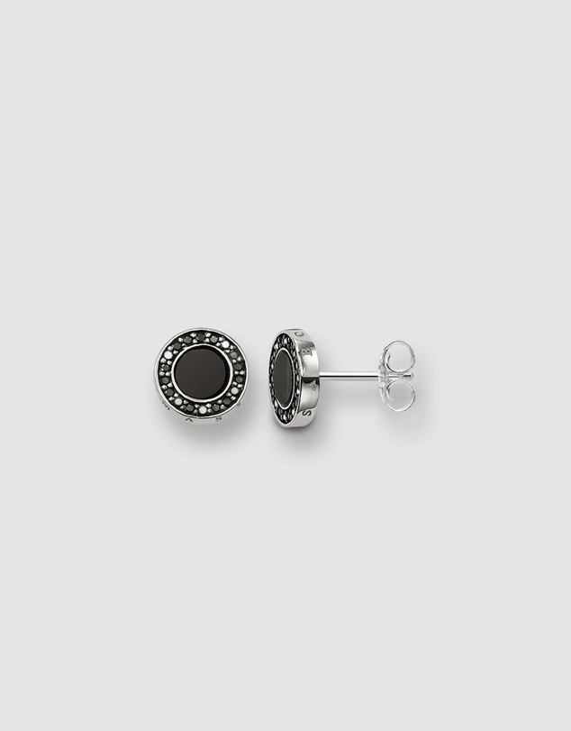 THOMAS SABO - Classic Pave Black Ear Studs