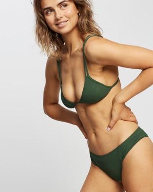 Volcom Simply Rib Tri Bikini Top - Bikini Set (Green)