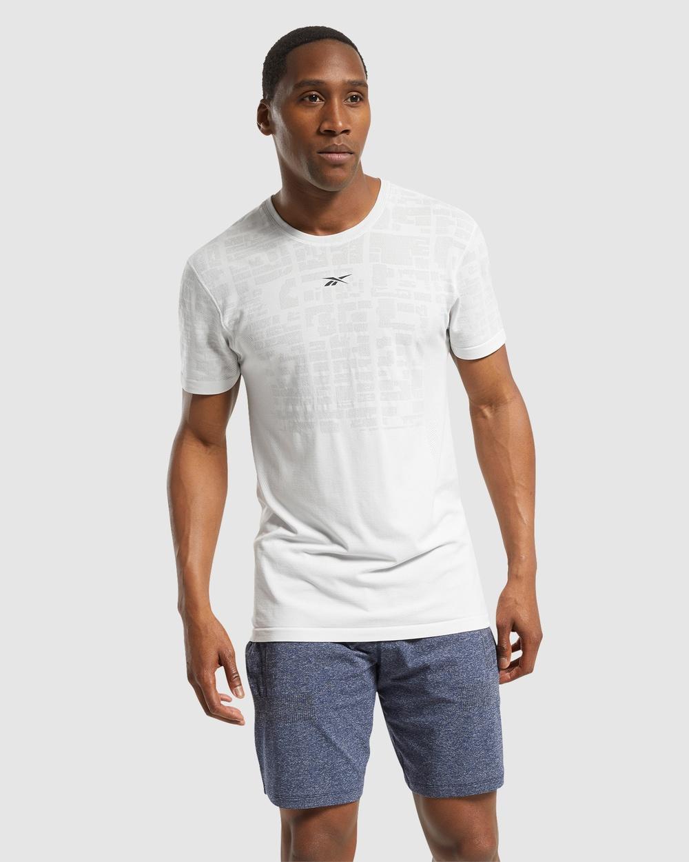 Reebok Performance - United By Fitness MyoKnit Tee - Long Sleeve T-Shirts (Blue) United By Fitness MyoKnit Tee