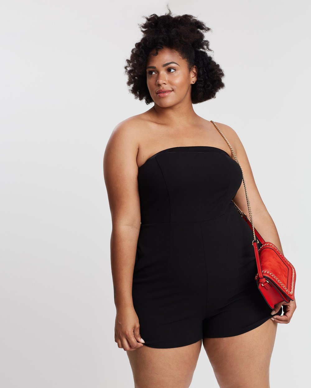 70cd2e0d2c ICONIC EXCLUSIVE - Ella Strapless Playsuit by Atmos Here Curvy Online