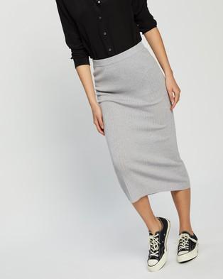 Assembly Label Ella Midi Skirt - Skirts (Grey Marle)