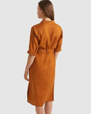 Sportscraft Beatrice Linen Dress - Dresses (neutrals)