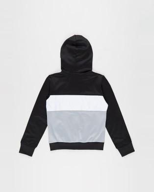 ASICS Brushed Fleece Full Zip Hoodie   Kid's - Coats & Jackets (Performance Black)
