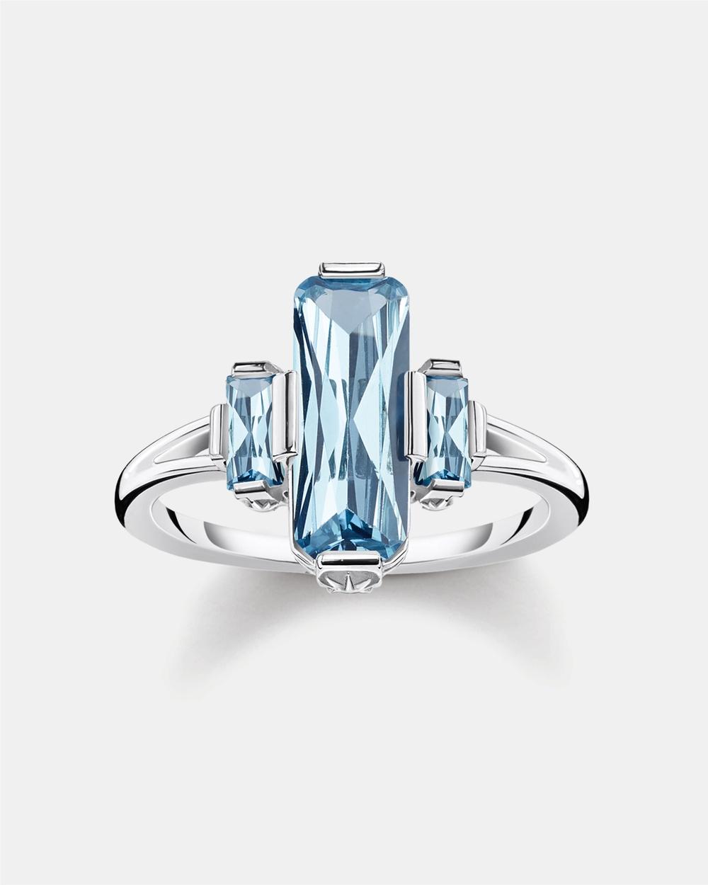 THOMAS SABO Ring Blue Stones Jewellery Blue