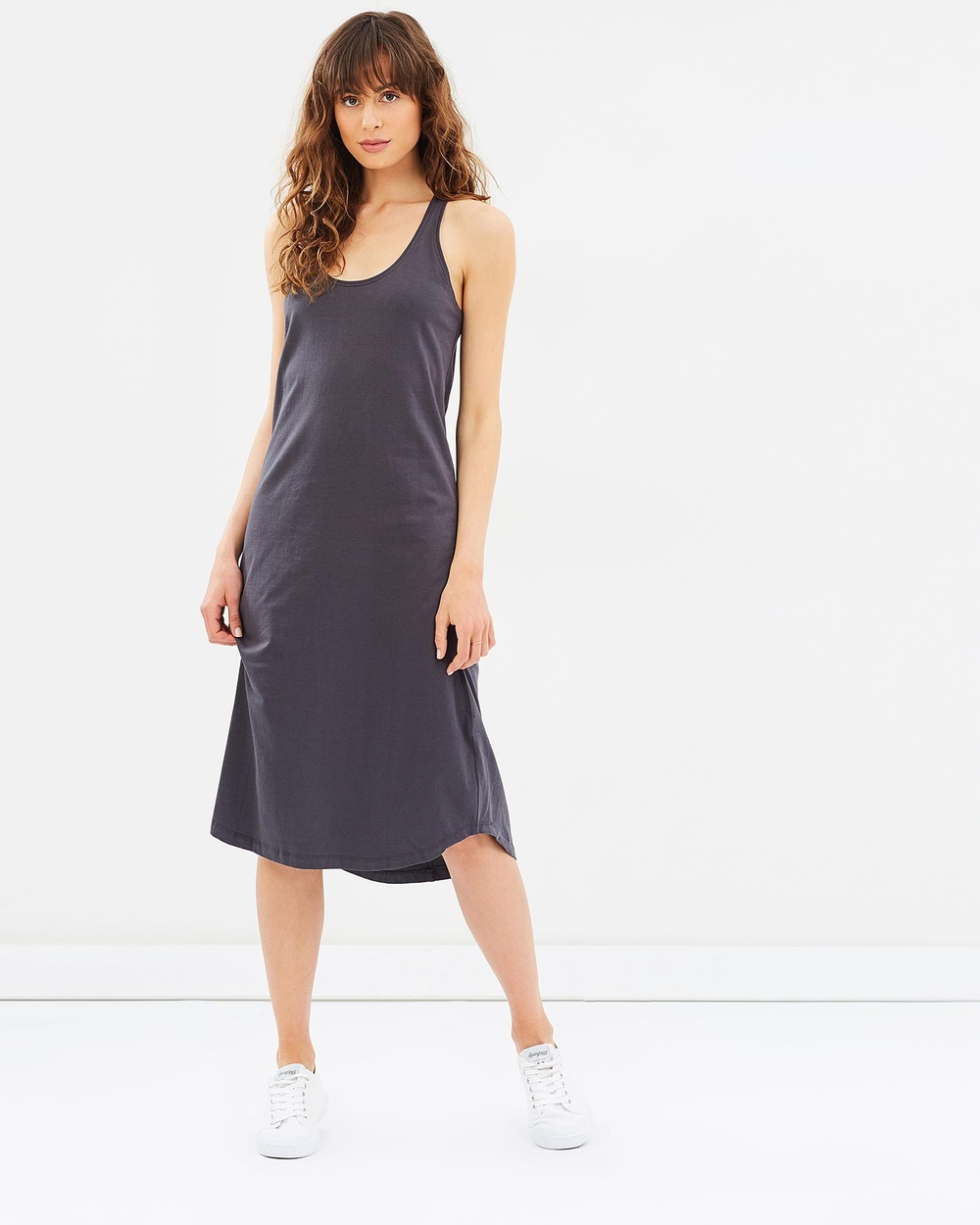 Cloth & Co. Organic Cotton Singlet Dress Dresses Navy Organic Cotton Singlet Dress