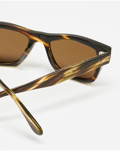 Oliver Peoples Sun Cocobolo & True Polar Brown