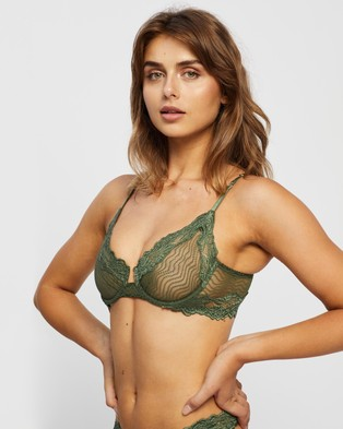 Lonely Bonnie Underwire Bra - Underwire Bras (Forest)