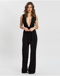 Missguided Petite - Plunge Wide Leg Jumpsuit