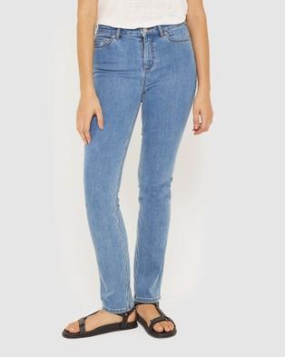 Jag Bianca High Rise Slim Straight Jeans - Slim (Blue Azure)