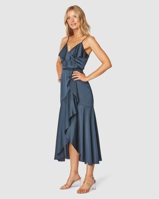 Pilgrim Adana Midi Dress - Bridesmaid Dresses (Navy)