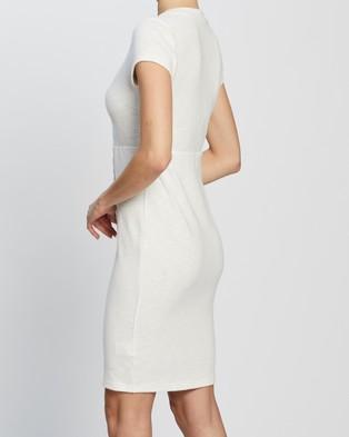 Atmos&Here Una Midi Dress - Bodycon Dresses (White)