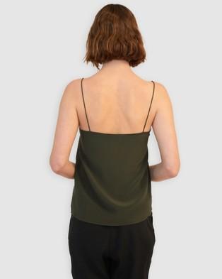 GINIA RTW Eva Silk Cami - Pencil skirts (Olive)