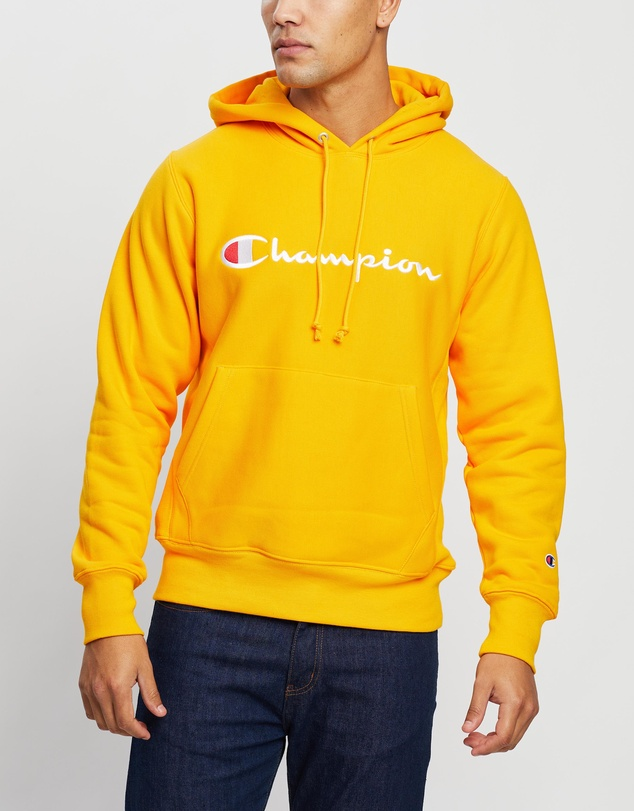 Champion - Reverse Weave Script Pullover Hoodie