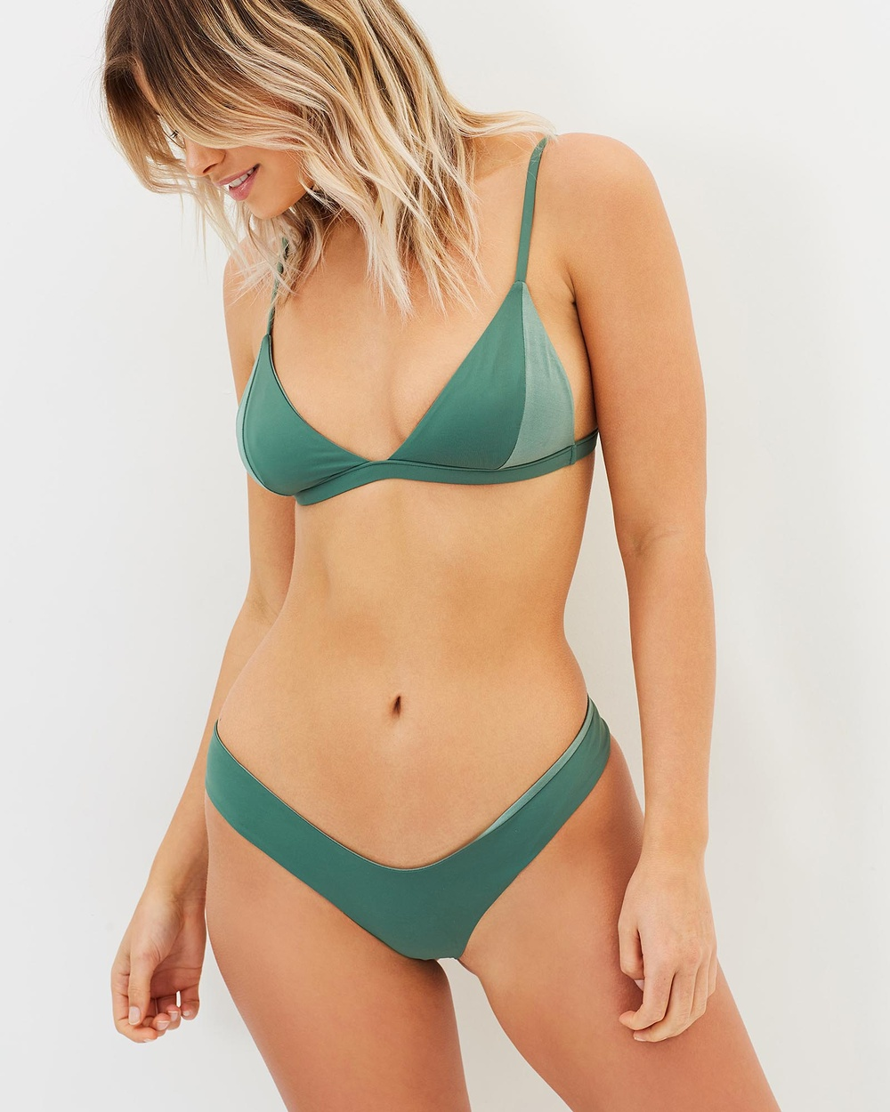 Bond-Eye Swimwear Suns Out Reversible Briefs Bikini Bottoms Malachite Suns Out Reversible Briefs